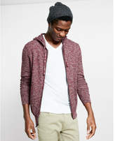 Express textured full zip hooded sweater