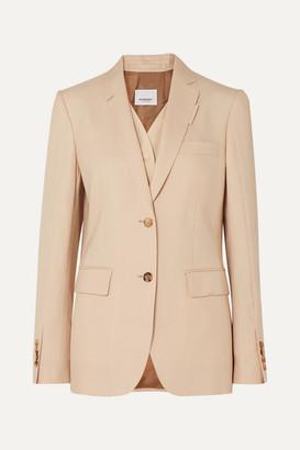 Burberry Wool, Silk, Mohair And Linen-blend Blazer - Neutral