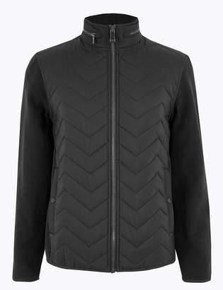 Blue HarbourMarks and Spencer Fleece Quilted Jacket