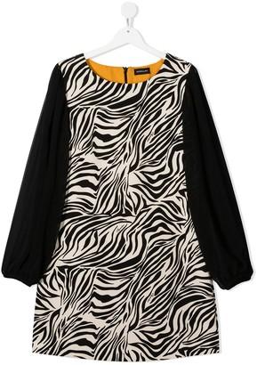MonnaLisa TEEN animal print midi dress