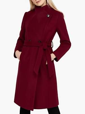 Monsoon Rita Wrap Collar Long Coat