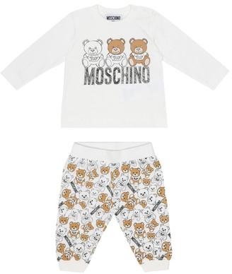 MOSCHINO BAMBINO Baby cotton top and leggings set