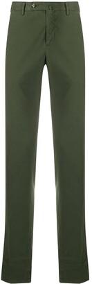 Pt01 Notched-Waist Straight-Leg Trousers