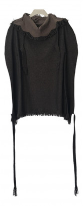 Issey Miyake Brown Synthetic Tops