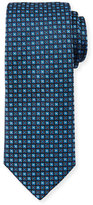 HUGO BOSS Geometric Patterned Tie, Blue