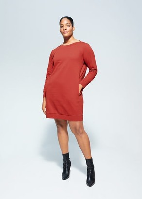 MANGO Violeta BY Side pockets dress burnt orange - 10 - Plus sizes