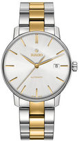 Rado Coupole Classic Stainless Steel and Goldtone Ceramos Bracelet Watch