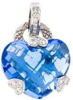 Judith Ripka Blue Quartz & Diamond Heart Pendant