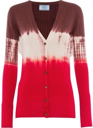 Prada Tie-Dye Cardigan