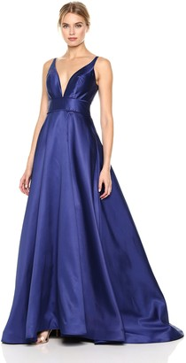 Mac Duggal Women's V-Neck Ballgown