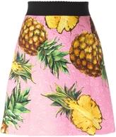 Dolce & Gabbana Pineapple Print Brocade Skirt