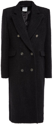 Sandro Double-breasted Boucle-tweed Coat