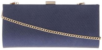 Collection Nefertiti Lock Navy Clutch Bag