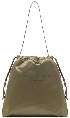 Victoria Beckham Small Drawstring satin tote