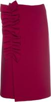 MSGM Ruffle Detail Skirt