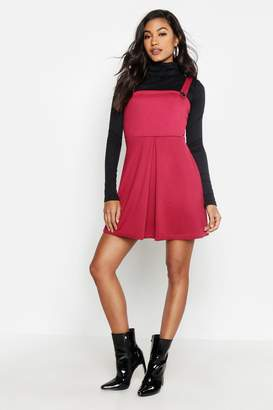boohoo Pleat Front Pinafore Dress