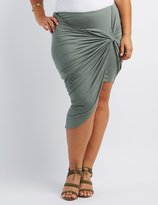 Charlotte Russe Plus Size Knotted Asymmetrical Skirt