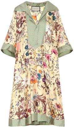 Gucci Floral silk-twill kaftan