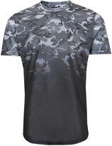 Topman Devote Faded Camo Print T-shirt