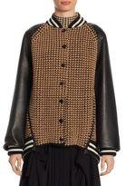 Akris Leather & Cashmere Bomber Jacket
