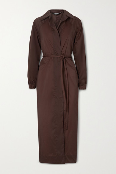 Thumbnail for your product : Kassl Editions Belted Shell Trench Coat - Burgundy