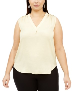 Alfani Plus Size V-Neck Top, Created for Macy's