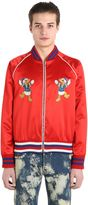 Gucci Donald Duck Silk Duchesse Bomber Jacket