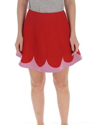 Valentino Scallop Detail Mini Skirt