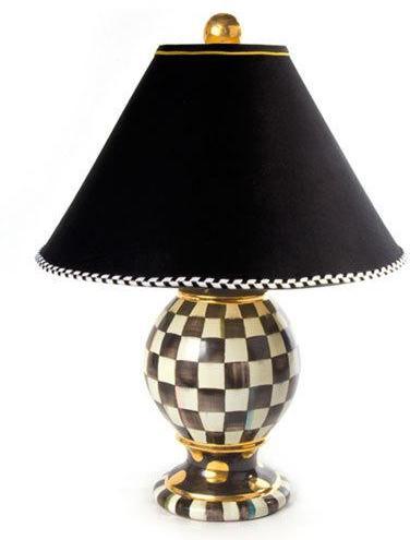 Mackenzie Childs MacKenzie-Childs Courtly Check Medium Globe Lamp