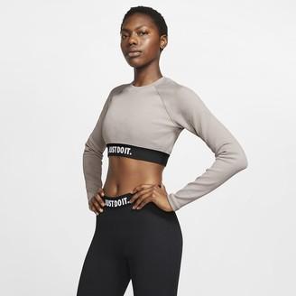 Nike Womens Long Sleeve Crop Top Sportswear
