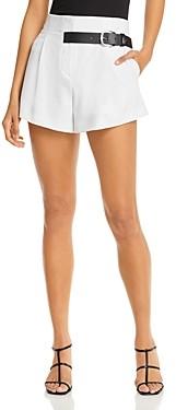 Alice + Olivia Adelina Belt Trim Shorts