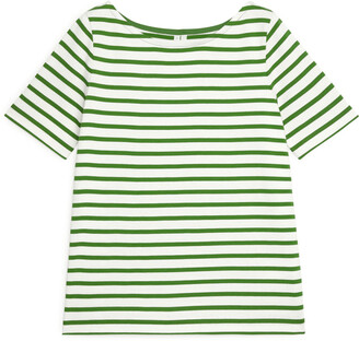 Arket Boat-Neck Striped Top