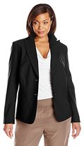 Jones New York Women's Plus-Size Washable Wool-Blend Jacket