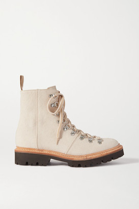 Grenson Nanette Canvas Ankle Boots - Sand