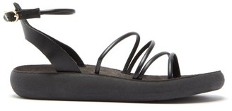 Ancient Greek Sandals Euphemia Comfort Leather Sandals - Black