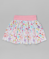Zutano White Giardini Dancing Skirt - Toddler