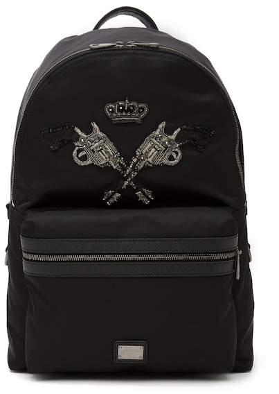 Dolce & Gabbana Embellished Nylon Backpack