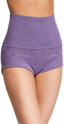 KHAITE Belinda Cashmere High-Rise Shorts