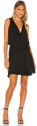 Krisa Flirty Hip Sash Mini Dress