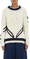 Orley Women's Contrast Braid Cable-Knit Sweater
