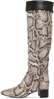 Giuseppe Zanotti 45mm Snake Print Leather Boots