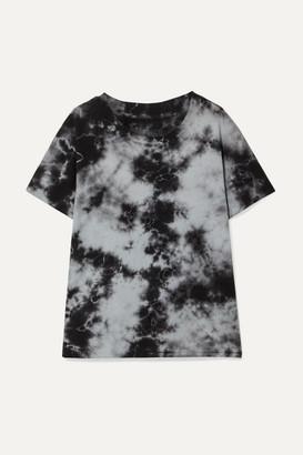 Nili Lotan Brady Distressed Tie-dyed Cotton-jersey T-shirt - Gray