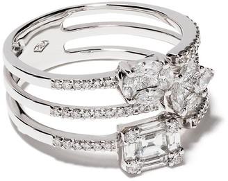 Yoko London 18kt white gold Starlight stacked-look ring