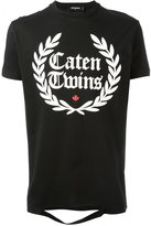 DSQUARED2 Caten Twins cut-out detail T-shirt - men - Cotton - S