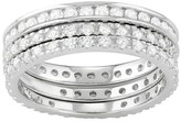 Journee Collection 4 CT. T.W. Round-cut Cubic Zirconia 3-piece Bridal Pave Set Ring Set in Sterling Silver - Silver