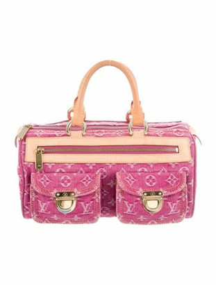 Louis Vuitton Denim Neo Speedy Fuchsia