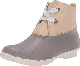 Sperry Women's Saltwater 2-Eye Leather Brown/Navy Rain Boot