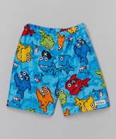 Flap Happy Pirate Sharks Swim Trunks - Infant