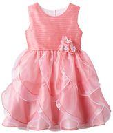 Nannette Toddler Girl Pink Organza Petal Dress