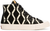 Visvim Skagway Bamboo Hi Top Sneakers - men - rubber/Suede - 8
